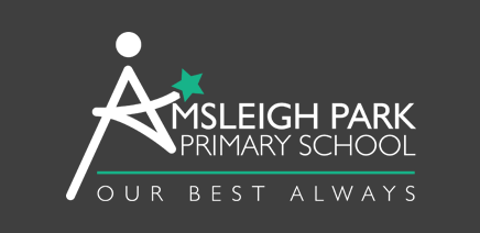 Amsleigh Park Primary School Logo Reversed