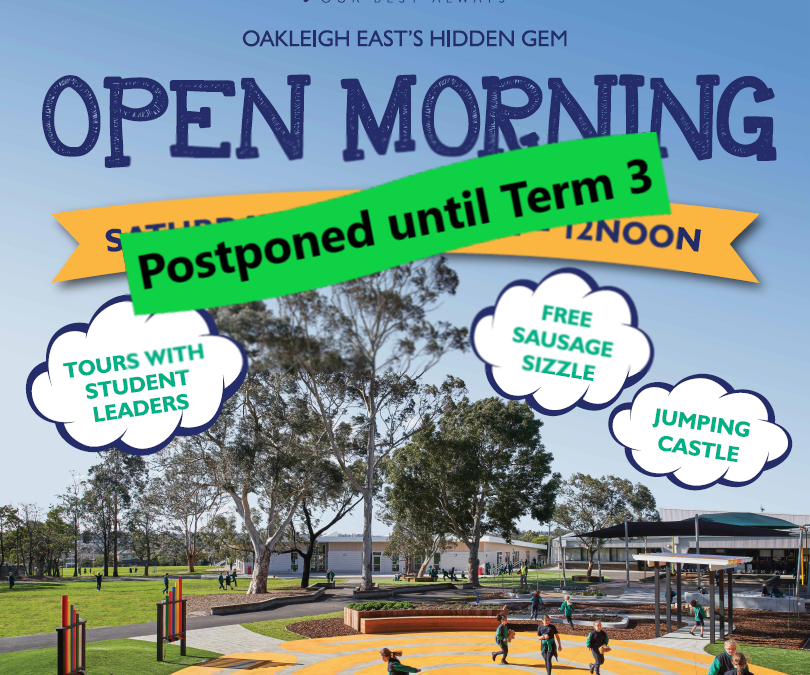Open Morning – Postponed